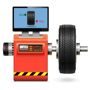 wheel balancing service vector