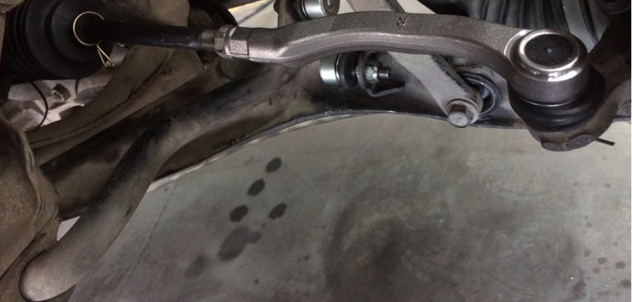 right side tie rod end in the real case