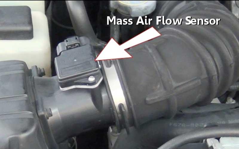 MAF sensor in a car engine